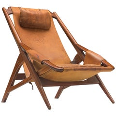 Andersag Lounge Chair in Patinated Cognac Leather