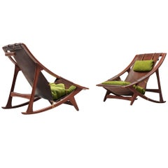 Andersag Lounge Chairs in Patinated Cognac Leather