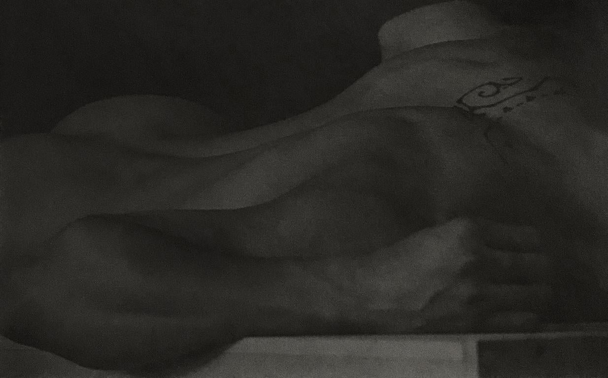 Untitled (Figure Lying on Block, Back View with Tattoo)