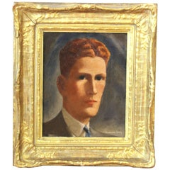 Anderson Craig American Gothic Portrait Oil Painting of a Man with Red Hair