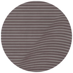 Anderson Round Rug in Gray Wool