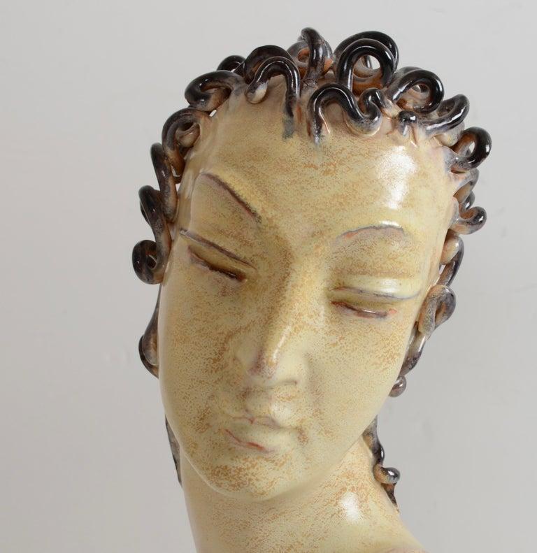 Ceramic sculpture, by Andersson & Johansson for Höganäs. Art Deco, 1930s.