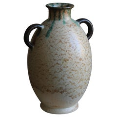 Andersson Johansson, Sizable Vase, Glazed Earthenware, Höganäs, Sweden, 1930s