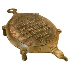 Andhra Pradesh Brass Vegetable Cheese Coconut Grater in the Shape of a Turtle