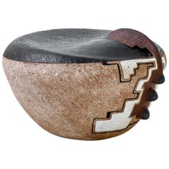 "Andile Dyalvane, ""Isichopho A Seat"", Terracotta Clay Sculptural Seat"