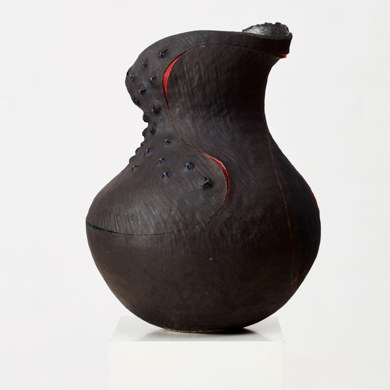 South African Andile Dyalvane, Nyulu 'Purify', Glazed and Hand Painted Clay Sculpture For Sale