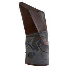 Andile Dylavane, Idladla (Silo), Black Clay and Wenge Sculpture