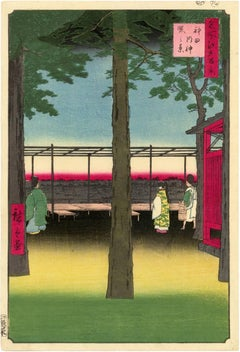 Dawn at Kanda Myojin Shrine from 100 Famous Views of Edo