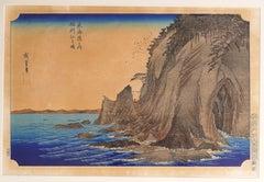 Enoshima in Sagami Province - Original Woodcut after Hiroshige Utagawa