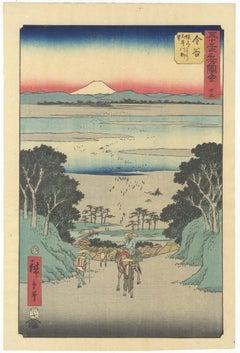 Hiroshige Ando, Lanscape, Mount Fuji, Landscape, Japanese Woodblok Print, Edo