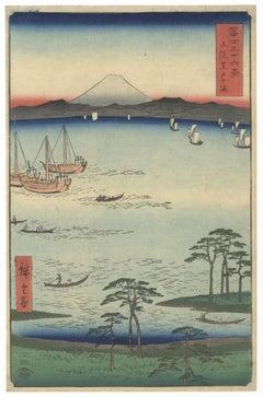 Hiroshige I, Kuroto Bay, Kazusa Province, 36 Views of Fuji, Landscape, Edo