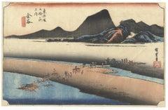 Hiroshige I, Original Japanese Woodblock Print, Tokaido, Ukiyo-e, Edo, Landscape