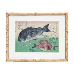 Kurodai & Kodai Fish with Bamboo Shoots and Berries, from the series Uozukushi
