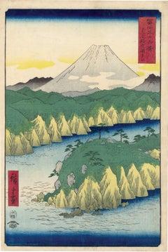 Lake at Hakone from 36 Views of Mt Fuji
