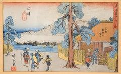 Making the Famous Dried Fish - by Hiroshige Utagawa - 1841/44