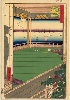 Moon-Viewing Point from 100 Famous Views of Edo