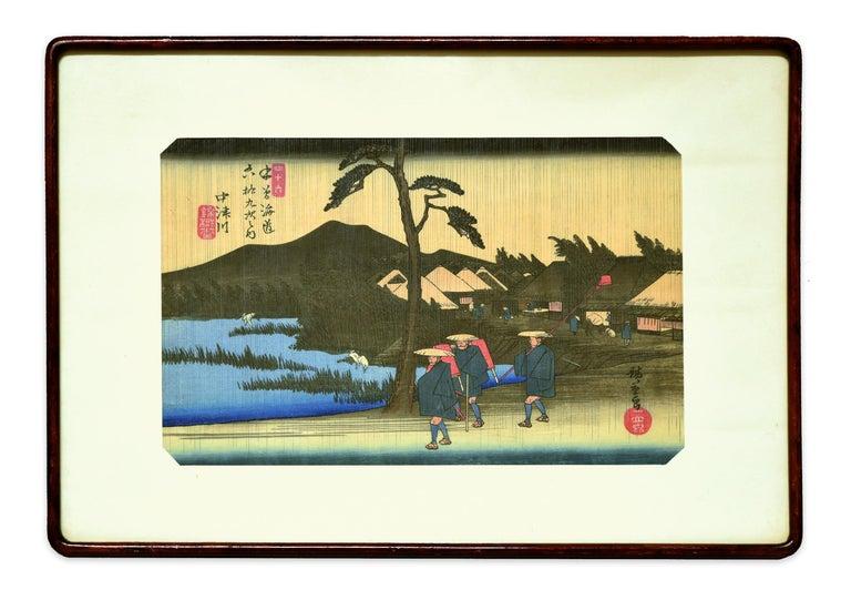 Nakatsugawa - 46th Station - Original Woodcut by Hiroshige Utagawa - Print by Utagawa Hiroshige (Ando Hiroshige)