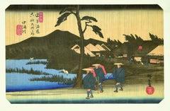 Nakatsugawa - 46th Station - Original Woodcut by Hiroshige Utagawa