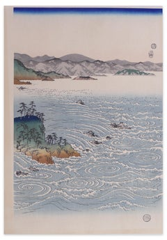 Rapids At Naruto - Woodcut After Hiroshige Utagawa - Early 20th Century