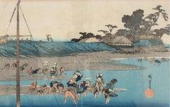 Susaki shiohigari (Gathering Shellfish at Low Tide at Susaki)