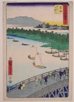 The Great Bridge over the Toyo River - by Hiroshige Utagawa - 1855