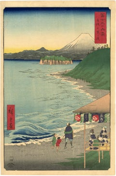 The Seven Ri Beach from 36 Views of Mt Fuji