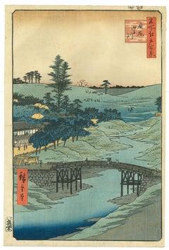 View of Furukawa River, Hiroo - by Hiroshige Utagawa - 1856