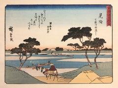 'View of Mitsuke', After Utagawa Hiroshige, Ukiyo-E Woodblock, Tokaido, Edo