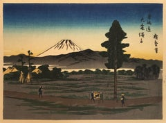 'View of Mt. Fuji', After Utagawa Hiroshige, Ukiyo-E Woodblock, Tokaido, Edo