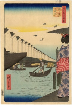 Yoroi Ferry from 100 Famous Views of Edo