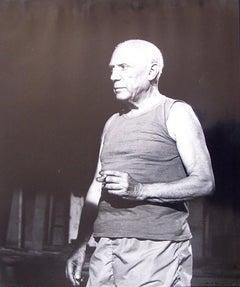 Profile of Picasso with a Cigarette
