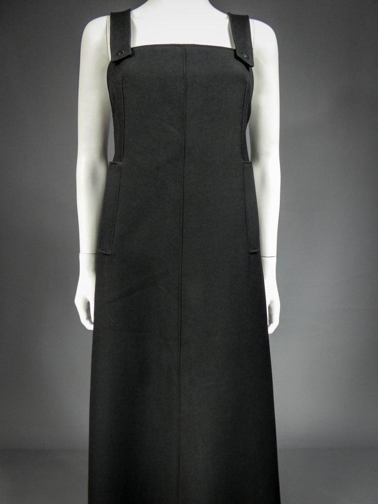 Black André Courrèges Haute Couture 0031643 Circa 1970 For Sale