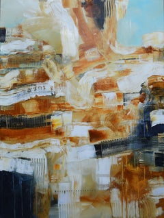 Structures series - The city under a piece of sky, Mixed Media on Canvas