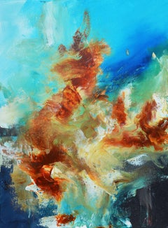 Flames IX, Painting, Acrylic on Canvas