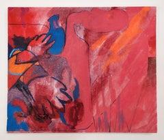 Let it in, let it out., Ink, pastel & oil on linen, 30 x 35.5 cm, 2021