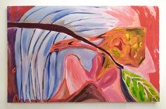 Wait until the last leaves.., Oil & oil bar on canvas, 107 x 167 cm, 2021