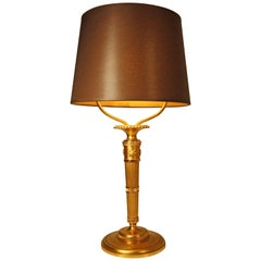 Andre Arbus Gilded Bronze Table Lamp, 1930s