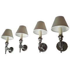 Andre Arbus Neoclassical Sconces, France, 1950s