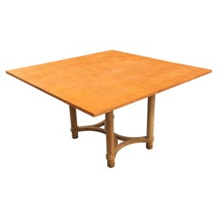 André Arbus, Rectangular Swivel Table with Ceruse Oak, circa 1950