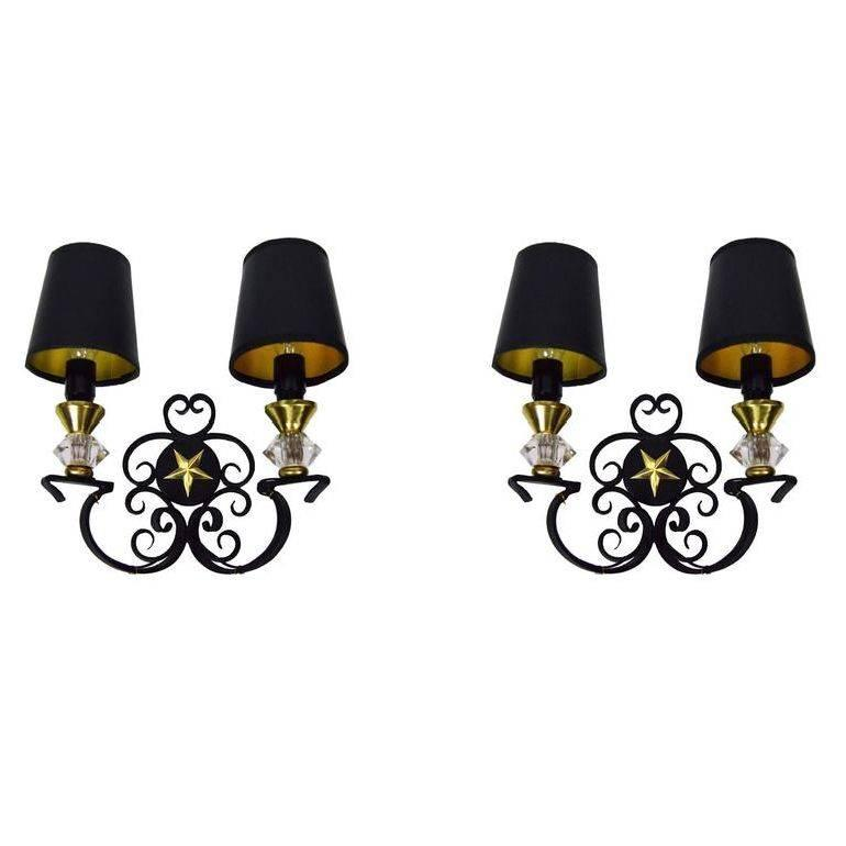 Andre Arbus Sconces, 4 Pairs Available, Priced by Pair