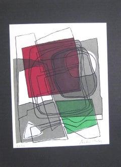 Poèmes Sur Soie - Original Lithograph by André Bloc - 1955 ca.