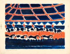 La Ronde des Chevaux de Cirque (Pink), Orig Lithograph, B.A.T.(bon à tirer) 1970