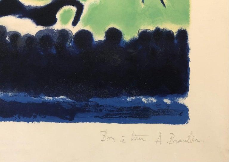 La Ronde des Chevaux de Cirque (Vert) by André Brasilier, 1970 For Sale 1