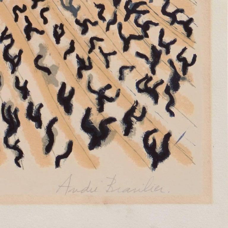 'Vineyard in Provence', Ecole Nationale des Beaux-Arts Paris, Hermitage, Benezit - Post-Impressionist Print by André Brasilier