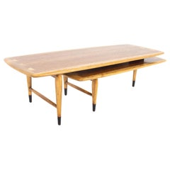 Andre Bus for Lane Acclaim MCM Walnut and Oak Dovetail Switchblade Coffee Table