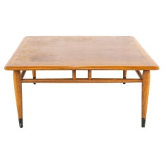 Andre Bus for Lane Acclaim Mid Century Square Walnut and Oak Dovetail Side End C
