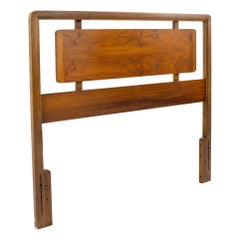 Andre Bus for Lane Acclaim Mid Century Walnut and Oak Twin Headboard