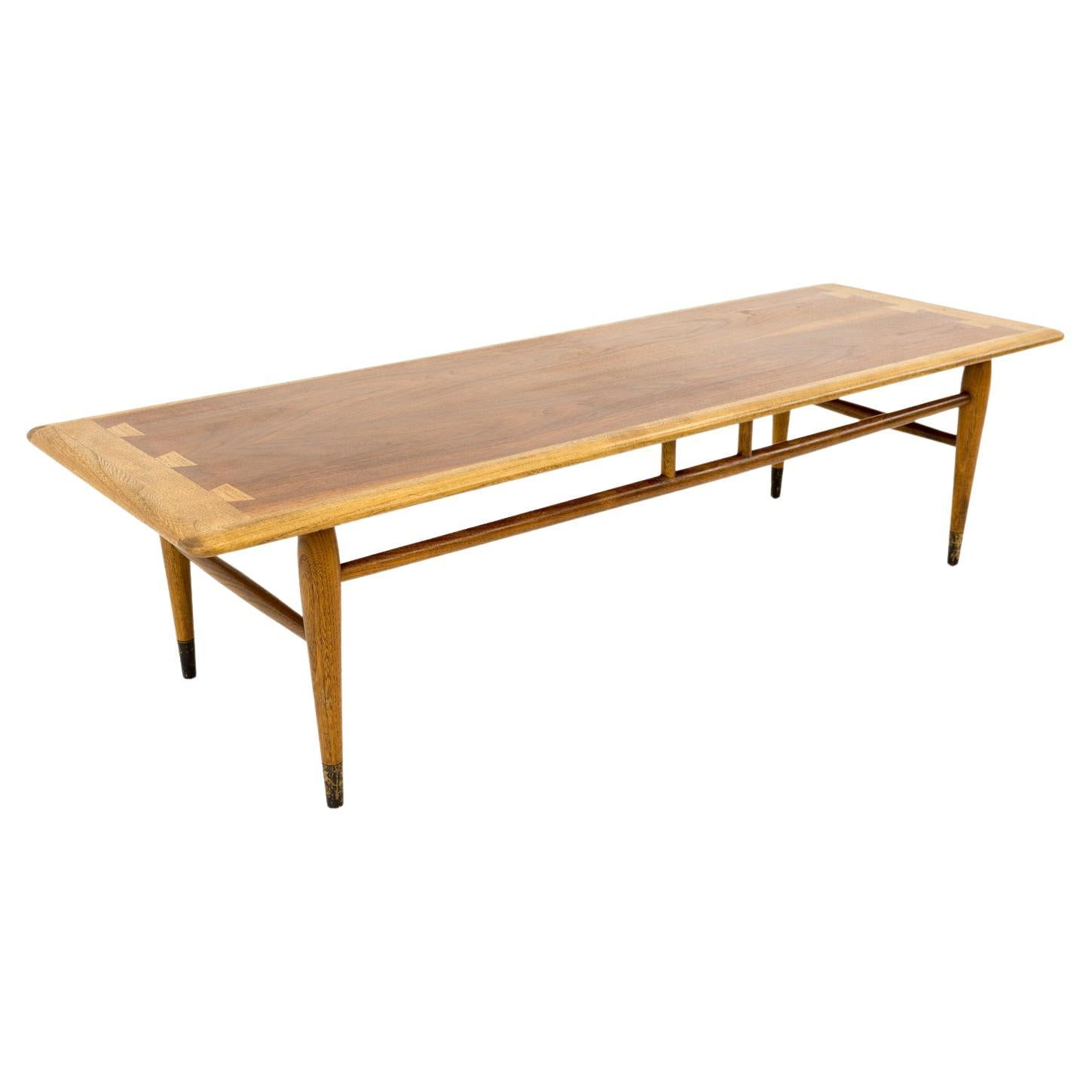 Andre Bus for Lane Acclaim Mid Century Walnut Dovetail Coffee Table