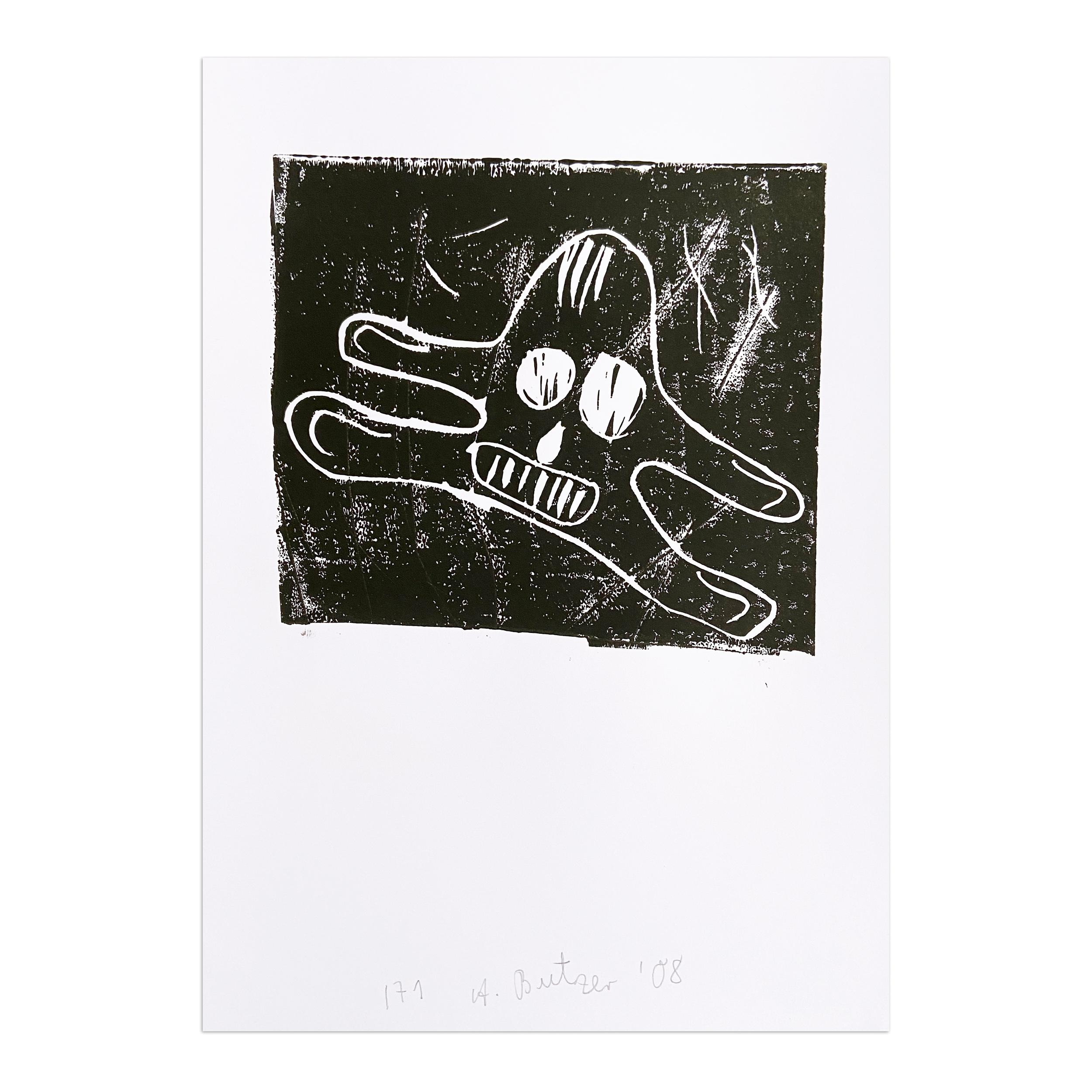 Untitled, Linocut, Contemporary Art, Pop Art, Neo-Expressionism