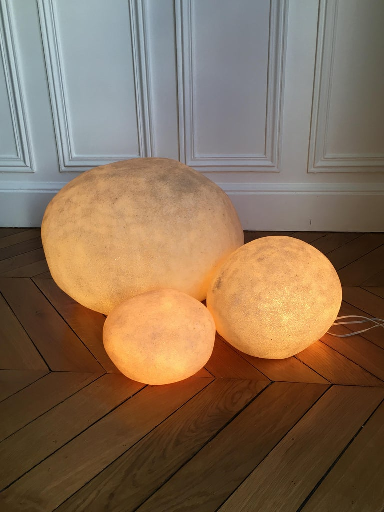 André Cazenave, Set of 3 'Dorra' Lamps, 1960s For Sale 4